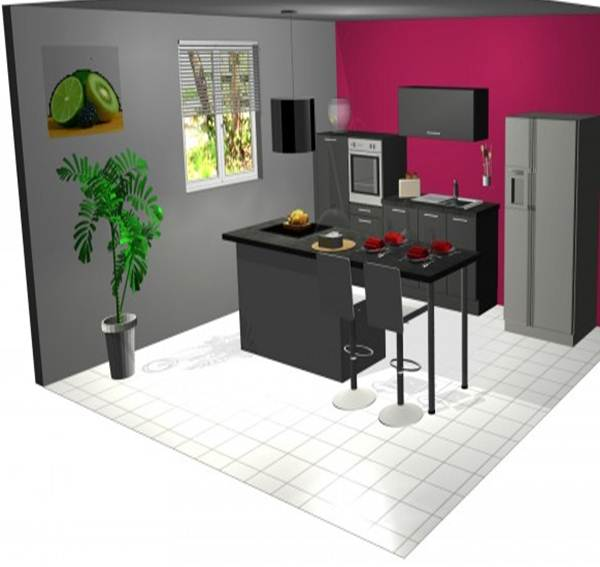 modele cuisine avec ilot cuisine moderne et design avec. Black Bedroom Furniture Sets. Home Design Ideas